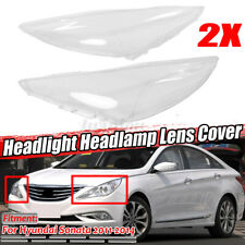 For Hyundai Sonata 2011-2014 Headlight Lens Replacement Cover Caps Left + Right