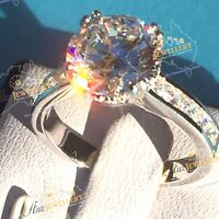 Engagement ring: 925 Silver Simulated Diamond  Engagement Wedding Ring Valentine