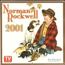 Norman Rockwell 2001 Tv Guide Wall Calendar - New !