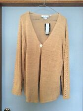 BASQUE WOMAN LADIES KNITTED cardigan Wheat Colour Size S Long sleeve BNWT