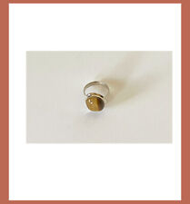 Artisan Created Hand Crafted Natural Tiger's Eye Sterling Silver Ring from India