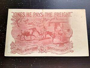 Vintage Jones of Binghamton NY Weighing Advertising Photo Postcard