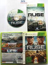 R.U.S.E. ( Microsoft Xbox 360 Spiel ) RUSE Strategiespiel komplett mit Anleitung
