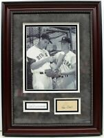 TED WILLIAMS ROGER MARIS SIGNED AUTOGRAPHED FRAMED CUTS YANKEES SOX JSA B99866