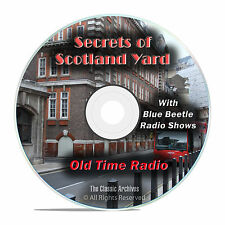 Secrets of Scotland Yard, 941 Old Time Radio Mystery Shows, OTR mp3 DVD G23
