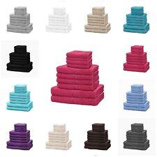 10 Piece 100% Egyptian Cotton Luxurious Towel Bale Sets Face Hand Bath Towels GC
