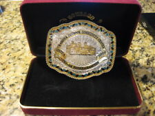 2000 USTPA Silver and gold plate over solid bronze buckle Pro-Am Novice Champion
