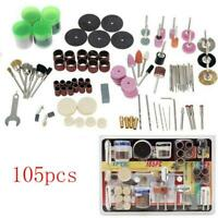 105Pcs Mini Electric Drill Grinder Rotary Tool Grinding Polishing Accessory Set