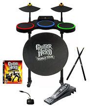 PS3 Guitar Hero WORLD TOUR Drum Set*Dongle*NYKO Skeleton Pedal*Shade*Sticks*Game