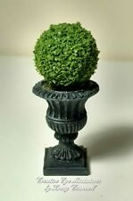 Miniature 1:12 Artisan Boxwood Urn by Kraig Councell