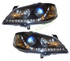 Black DRL Look Devil Eye Audi R8-Style Headlights Vauxhall Astra G Mk4 98-04