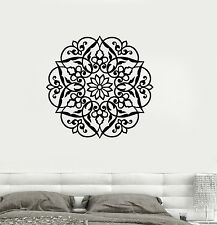 Vinyl Decal Lotus Mandala Ornament Bedroom Decor Buddhism Wall Stickers (ig3472)