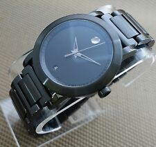 SWISS MOVADO MUSEUM SPORT BLACK PVD, S.S MODEL # 0606615 MEN'S WATCH,RETAIL$1295