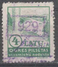 Latvia Local Revenue Stamp OGRE 4 LATU I&B cat. C2 Used 1929