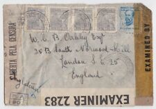 WW2 1944 censored cover Brazil to England