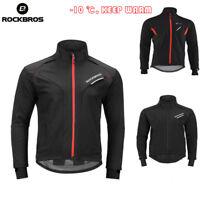 ROCKBROS Cycling Winter Fleece Thermal Warm Jacket Windproof & Rainproof 2 Style