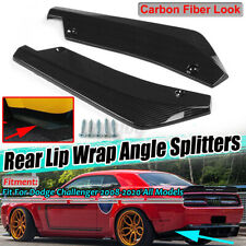 Carbon Fiber Look Rear Bumper Splitter Diffuser Canards For Dodge