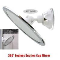 360° Fogless Suction Cup Shower Shave Make Up Fog Free Mirror Holder