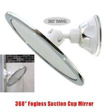 360° Rotation Fogless Suction Cup Shower Shave Make Up Fog Free Mirror Holder
