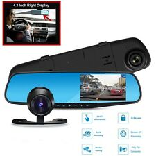 "4.3"" 1080P Vehicle Car DVR Dash Cam Camera Mount On Sun Visor , Free Rear Camera"
