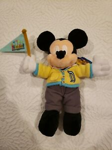 Disneyland 50th Anniversary Retro Mickey Mouse Bean Bag Plush Toy