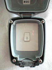MK Bell Push Switch 10Amp 1 Gang Grey IP65 Rated Weather & Dust Proof