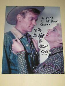 Cowboy WILL HUTCHINS Signed 8x10 SUGARFOOT Photo AUTOGRAPH