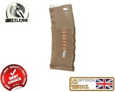BATTLEAXE M SERIES M4/16 MID CAP 150 MAGAZINE DARK EARTH AIRSOFT ASG FBP2305