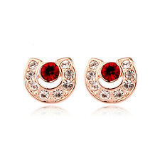 Fashion Jewelry - 18K Rose Gold Plated Horse Shoe Stud Earrings (FE198)