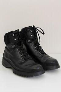 Prada Leather Booties Men, Black, Size 8.5