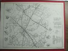 New Listing1963 Colorado County Texas & New Braunfels Maps Highways Towns Sp Mp Railroad Tx