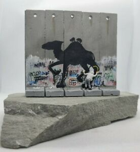 """BANKSY Walled Off Hotel - """"CAMEL"""" Original Large Wall Section - RARE"""
