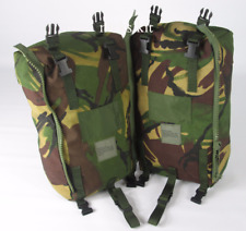 BRITISH ARMY ISSUE DPM SIDE POUCHES - PAIR - USED GRADE 1 CONDITION