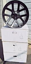 "20"" Dodge Ram 1500 SRT10 Style Set of 4 New Black Wheels Rims 2223"