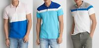 American Eagle Outfitters STRIPE PIQUE POLO M-L NWT