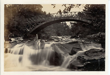 United kingdom, Braemar, falls of garbh allt vintage albumen print. scotland.