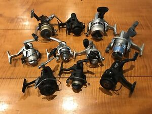 Lot of 10 Vintage Fishing Reels BERKLEY 415 Diawa 2600X Quantum Abu Garcia 454GL