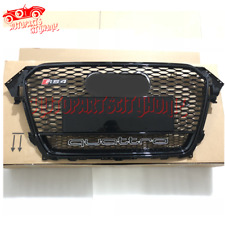 Mesh Grille RS4 Style Front Grill with Quattro 2013 2014 2015 For Audi B8.5 A4S4