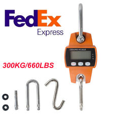 Digital Professional Crane Scale Hanging 660 Lb 300 Kg with Accurate Reloading