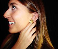 Kate Spade Hawaiian Garden Grove Large Stud Earrings Pave HIBISCUS BLOOM FLOWER