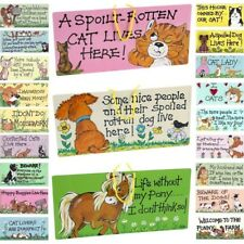 Smiley Signs Novelty Funny Hanging Plaques - Animal Horse Pet Cat Dog Selection