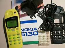 Nokia 5130 gelb + schwarz  E-plus SIM Ladeteil Bedienerheft  super ok gebr 71 E