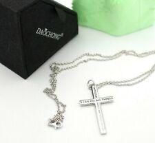 Daochong Halskette mit Kreuz Anhänger 925 Silber 60 cm (c)