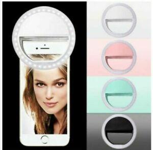Selfie LED Light Ring Flash Clip Camera For Phone Tablet Laptop compatible UK