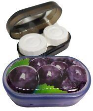 Funky Fruit Mirror Case Contact Lens Soaking Storage Case UK MADE - Purple Plum