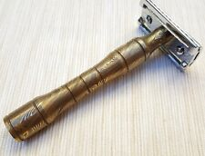 Safety razor handle H5L Gold Colour  Made from Damascus Welded Steel