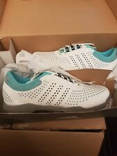Adidas W Adipure Sport Golf Shoes Womens White Teal Grey Size 5.5 UK