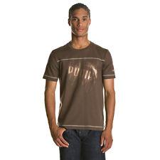 t shirt tee shirt  PUMA marron logo or taille XL