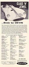 1958 DEVIN KIT CAR  ~   CLASSIC ORIGINAL PRINT AD