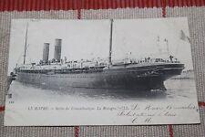 CPA - Le Havre - Sortie du Transatlantique La Bretagne - Paquebot - Bateau - 76